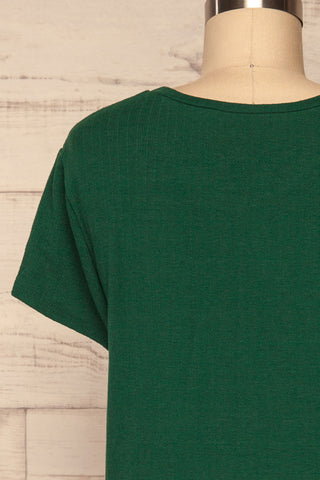 Fallebo Seaweed Green Short Sleeved T-Shirt back close up | La Petite Garçonne