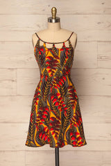 Farkadon Colourful Open Back Halter Summer Dress | La Petite Garçonne