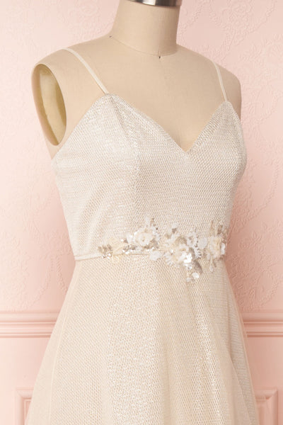 Fauve Beige | Sparkly Gown