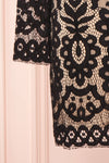 Federica Black & Beige Lace Dress | Robe Noire sleeve close up | Boutique 1861