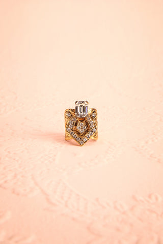 Honestus Antique Gold Ring with Crystals | Boudoir 1861 4