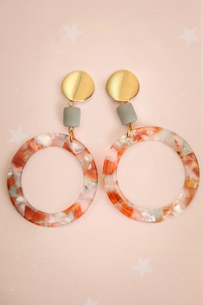 Flavia Titiana Marbled Pendant Earrings | La Petite Garçonne