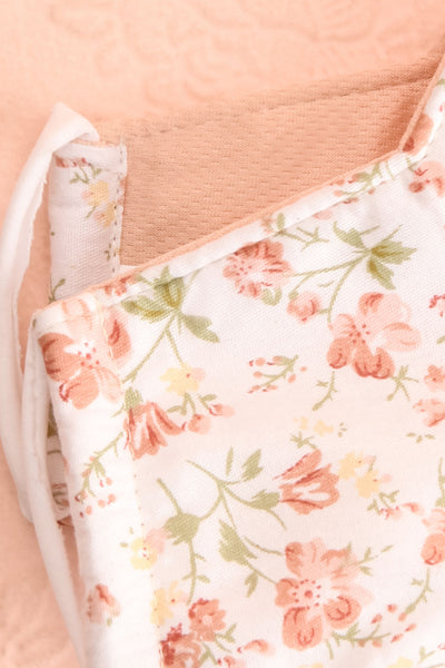 Floral Face Mask Orchard Flowers | Boutique 1861 inside close-up