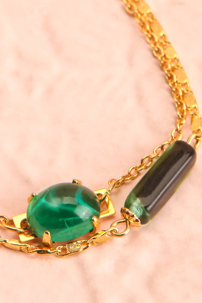 Fanny Bullock Workman Gold & Green Bracelet | Boutique 1861