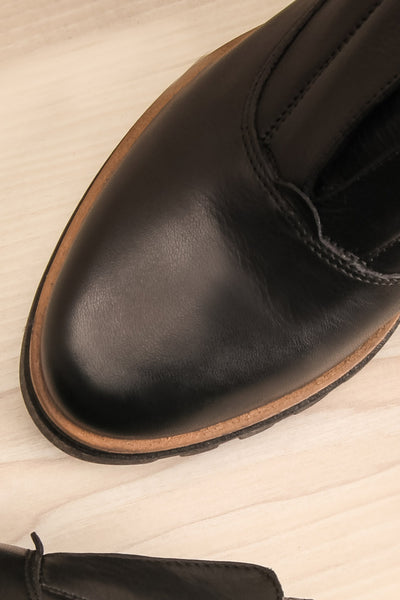 Forth - Black leather Ateliers flat shoes