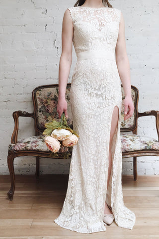 Francia Cream Lace Mermaid Gown | Boudoir 1861