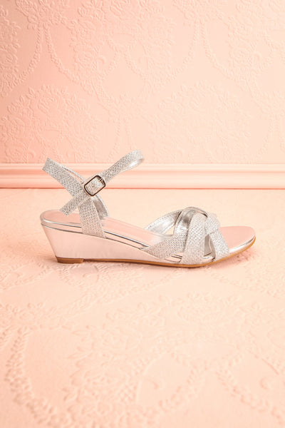 Fraxinelle Silver Sandals | Sandales | Boudoir 1861 side view