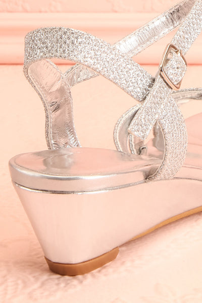 Fraxinelle Silver Sandals | Sandales | Boudoir 1861 back close-up