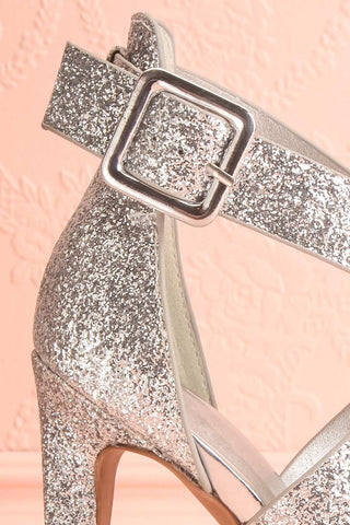 Frehel Silver Glitter High Heeled Sandals | Boutique 1861 7