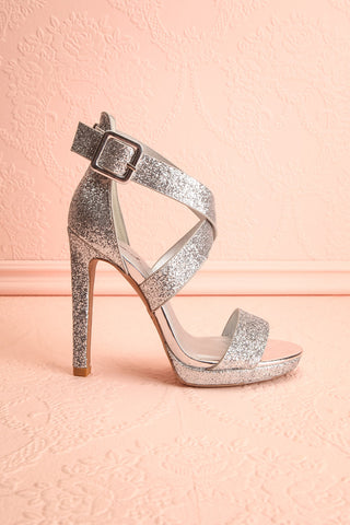 Frehel Silver Glitter High Heeled Sandals | Boutique 1861 6