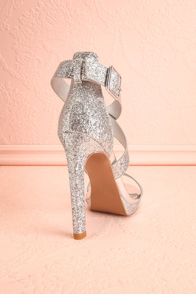 Frehel Silver Glitter High Heeled Sandals | Boutique 1861 10