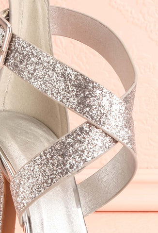 Frehel Silver Glitter High Heeled Sandals | Boutique 1861 4