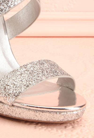 Frehel Silver Glitter High Heeled Sandals | Boutique 1861 5