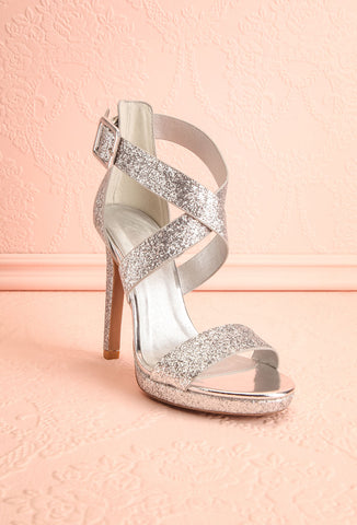 Frehel Silver Glitter High Heeled Sandals | Boutique 1861 3