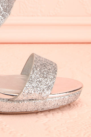 Frehel Silver Glitter High Heeled Sandals | Boutique 1861 9