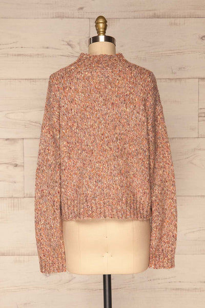 Fritzleen Pink High-Neck Knit Sweater | La Petite Garçonne back view