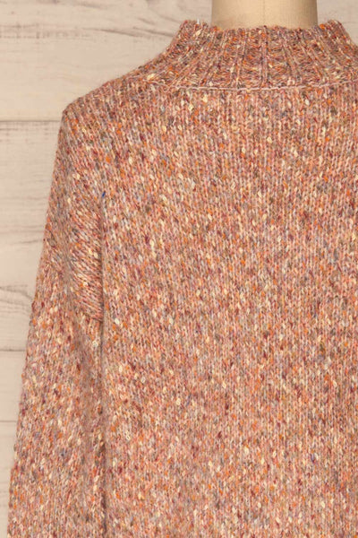 Fritzleen Pink High-Neck Knit Sweater | La Petite Garçonne back close-up