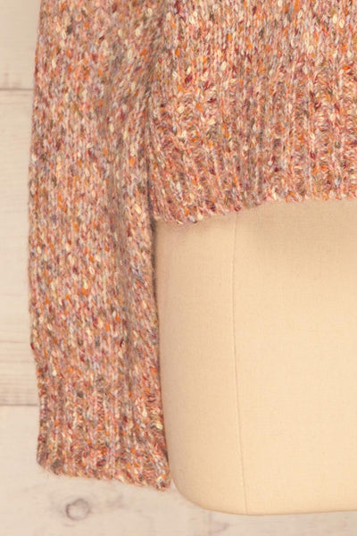 Fritzleen Pink High-Neck Knit Sweater | La Petite Garçonne bottom close-up