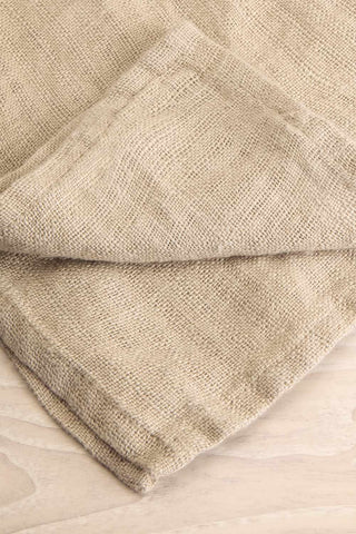 Galataki Light Beige Cloth Napkin close-up | La Petite Garçonne Chpt. 2