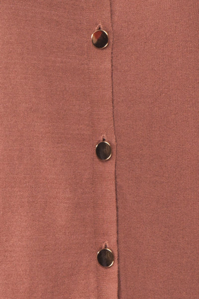 Galina Pink Taupe Button-Up Cardigan | Boutique 1861 fabric detail