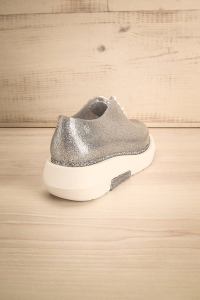 Gallarate Silver and White Platform Shoes | La Petite Garçonne Chpt. 2