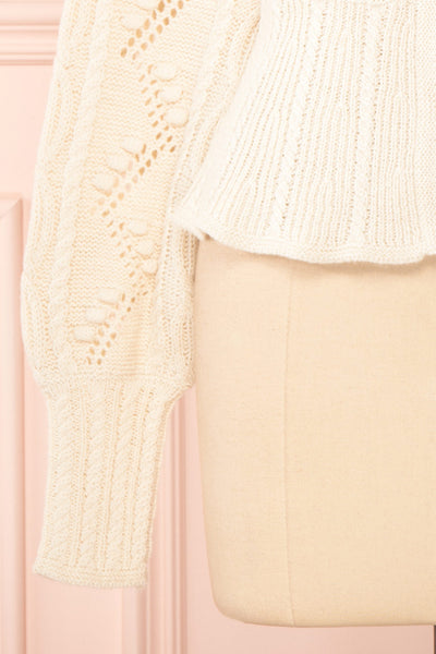 Garance White Openwork Knit Cardigan | Boutique 1861 bottom