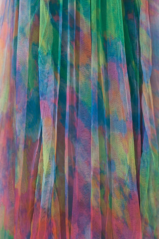 Gennadiya Colourful Mesh A-Line Maxi Dress | Boutique 1861 fabric detail