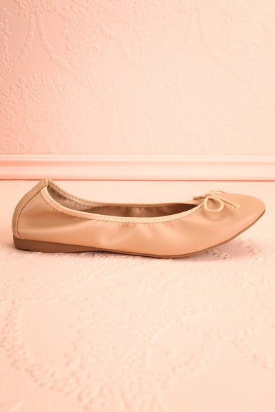 Gericault Beige Ballet Flats | Ballerines | Boutique 1861 side view