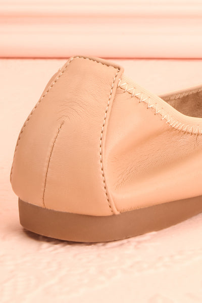 Gericault Beige Ballet Flats | Ballerines | Boutique 1861 back close-up