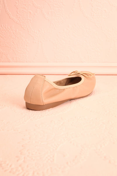 Gericault Beige Ballet Flats | Ballerines | Boutique 1861 back view