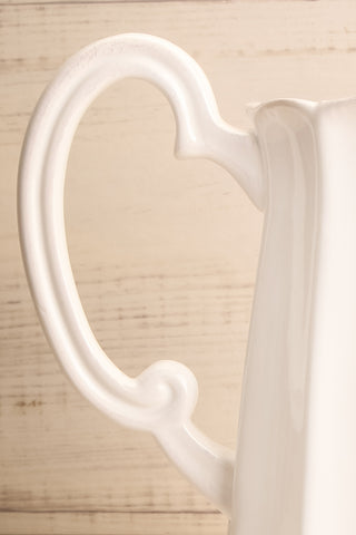 Getafe White Ceramic Pitcher handle | La Petite Garçonne Chpt. 2
