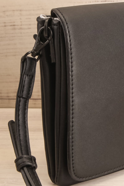 Gianna Black Faux-Leather Pixie Mood Handbag close-up | La Petite Garçonne
