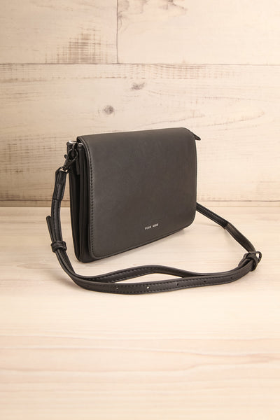 Gianna Black Faux-Leather Pixie Mood Handbag | La Petite Garçonne