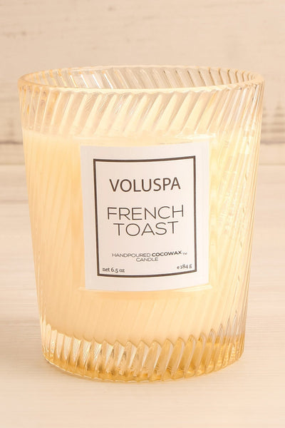 Glass Candle French Toast | Voluspa | Boutique 1861 front close-up