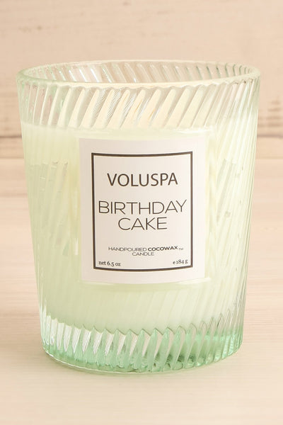 Glass Candle Birthday Cake | Voluspa | Boutique 1861 front close-up