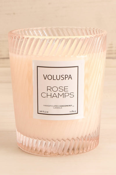 Glass Candle Rose Champs | Voluspa | La Petite Garçonne  front close-up
