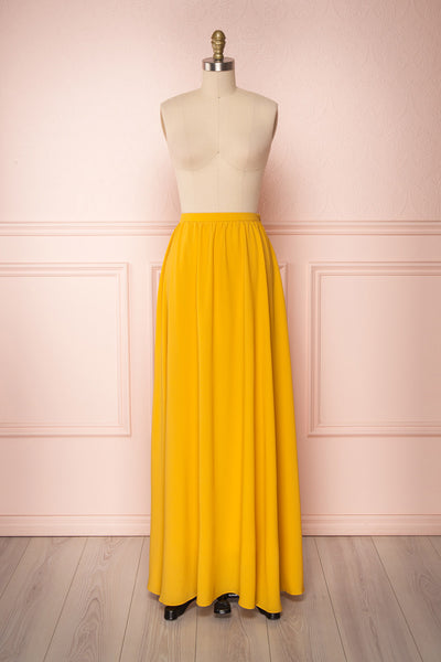 Glykeria Sun Golden Yellow Chiffon Maxi Skirt | Boutique 1861 1