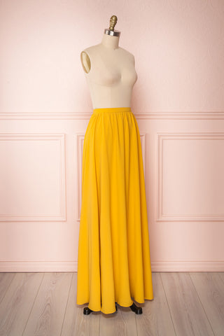 Glykeria Sun Golden Yellow Chiffon Maxi Skirt | Boutique 1861 3