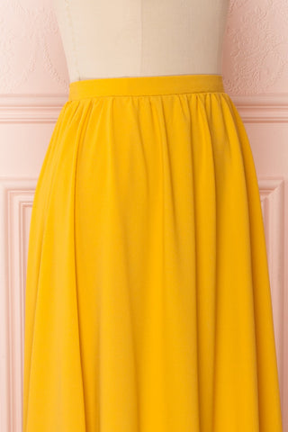 Glykeria Sun Golden Yellow Chiffon Maxi Skirt | Boutique 1861 4