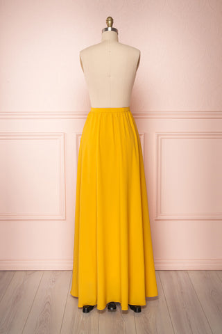 Glykeria Sun Golden Yellow Chiffon Maxi Skirt | Boutique 1861 5