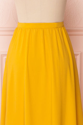 Glykeria Sun Golden Yellow Chiffon Maxi Skirt | Boutique 1861 6