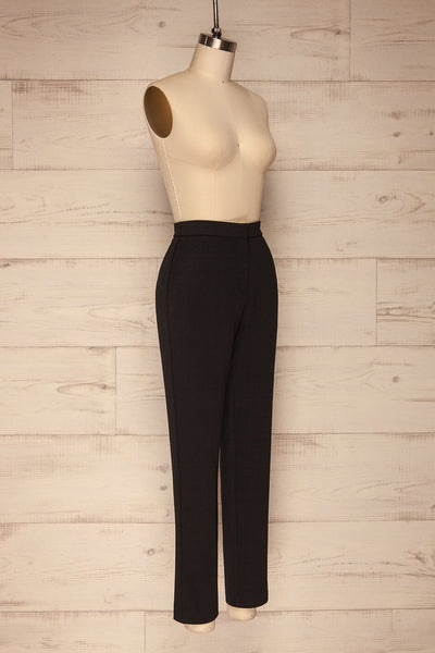 Godelieve Black Pants | Pantalon | La Petite Garçonne side view