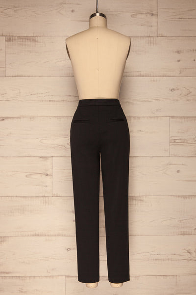Godelieve Black Pants | Pantalon | La Petite Garçonne back view