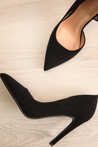 Goff Black Faux-Suede Stilettos | Boutique 1861