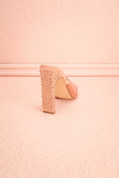 Greneta Pink Plastic Slip-On Heeled Sandals | Boutique 1861