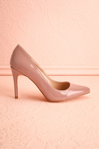 Guttin Mauve Patent Faux-Leather Pointed Toe Heels | Boutique 1861 5