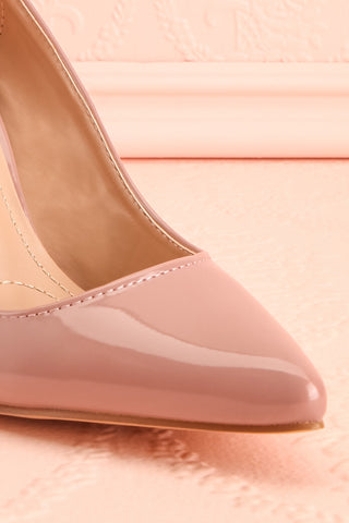 Guttin Mauve Patent Faux-Leather Pointed Toe Heels | Boutique 1861 4