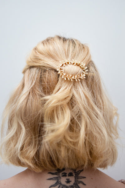 Hambourg Set of 2 Gold Leafy Wreath Hair Clips | Boutique 1861 model
