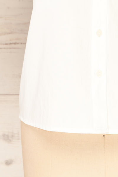 Haneul White Puffy Sleeves Buttoned Blouse | La petite garçonne bottom