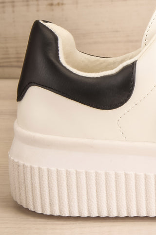Harley White & Black Matt & Nat Sneakers side back close-up | La Petite Garçonne